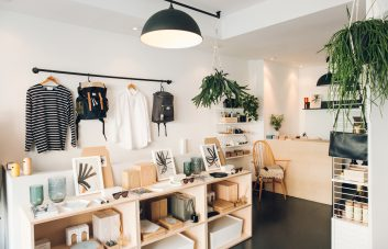 An interior shot of Triangle Store