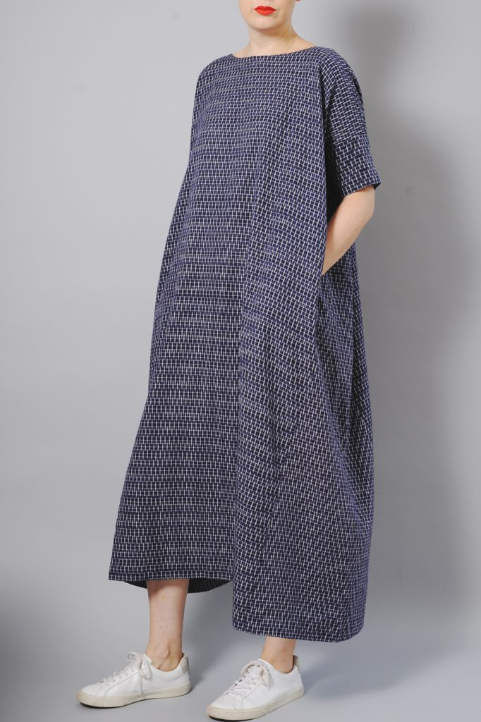 Ikat Navy Dress
