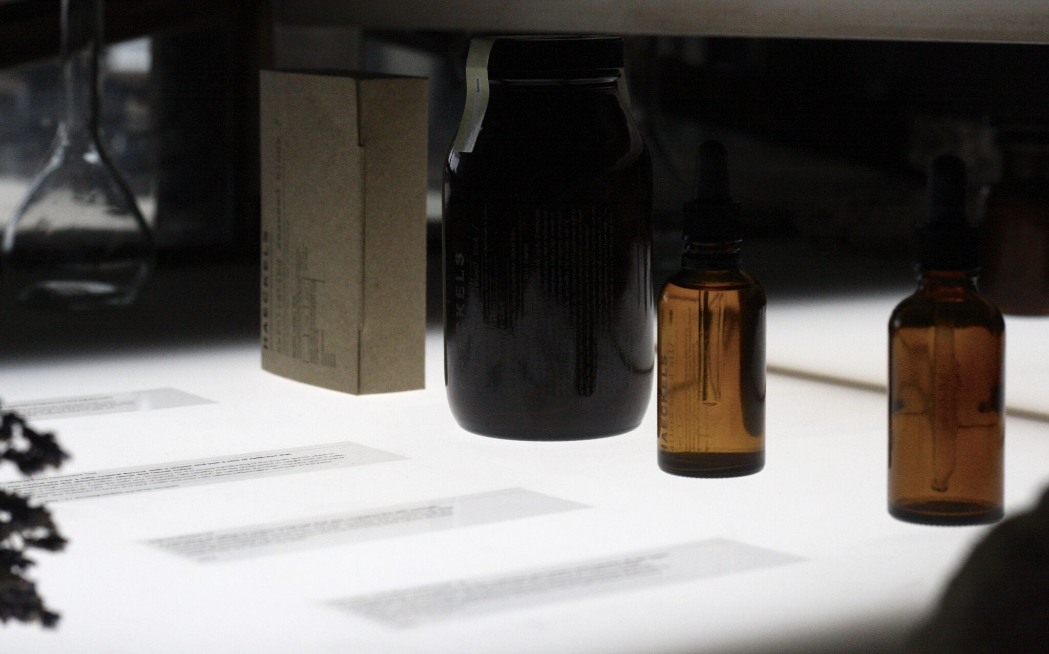 Products on display at Haeckels