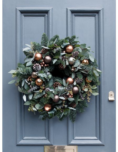Wreath on a door