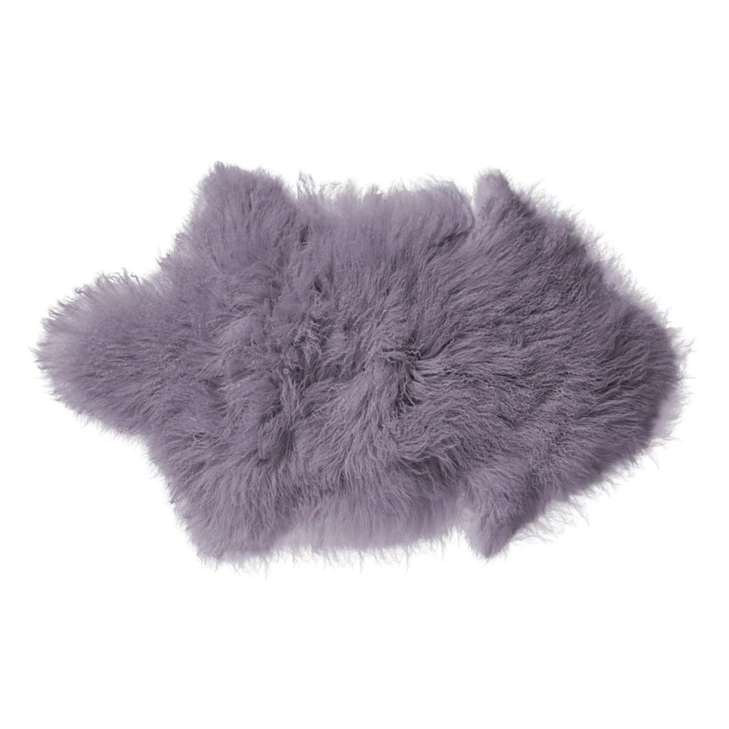 Bloomingville Mongolian Purple Lamb Fleece Rug
