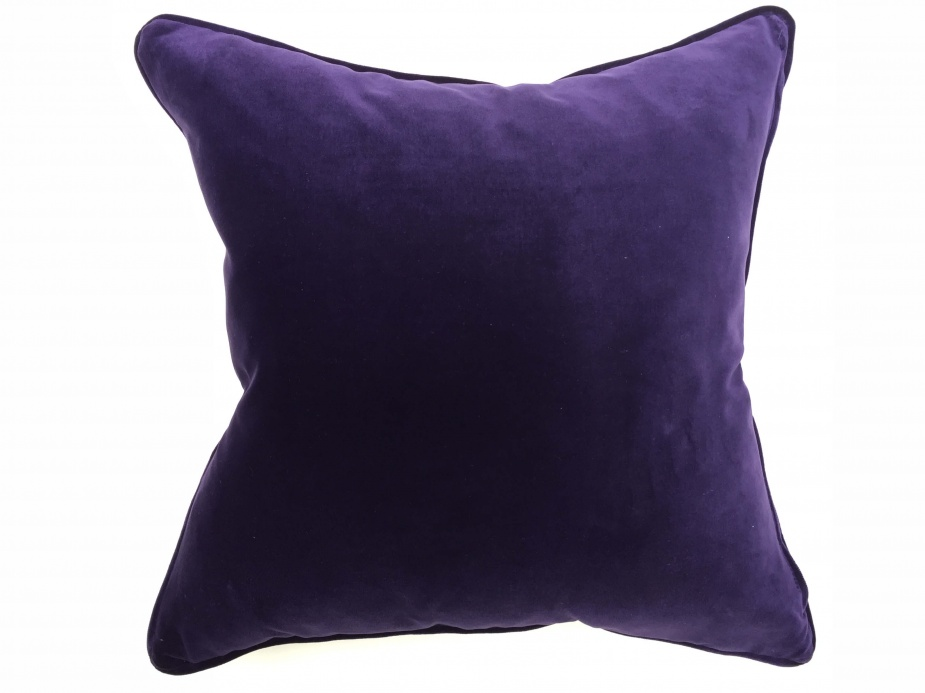 Barnbury Home Deep Purple Bollywood Velvet Cushion