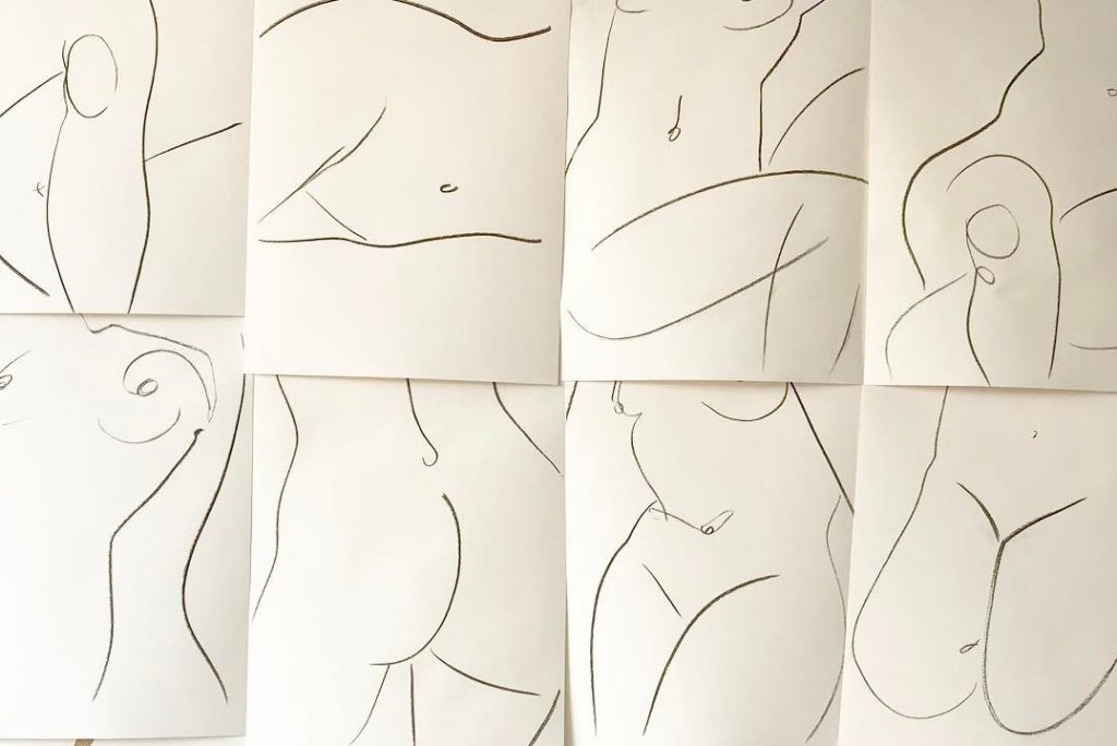 Life Drawing Class with Alexa Coe at London Design Festival<br /> Credit: Alexandria Coe