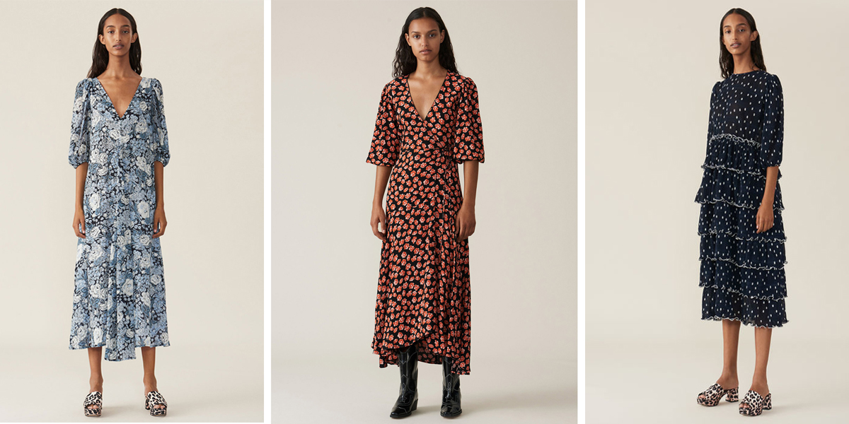 Ganni dresses are perfect for spring weddings