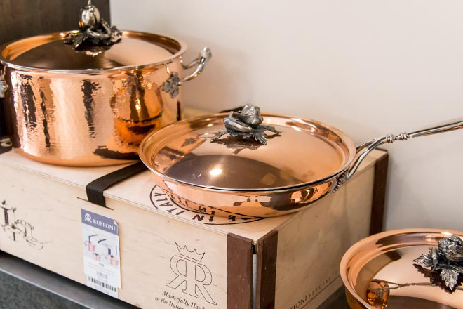 Ruffoni copper pots and pans